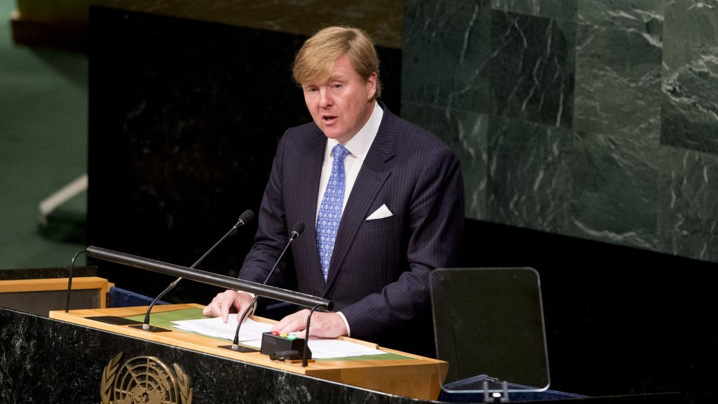 Koning Willem-Alexander sprak in 2015 voor de Algemene Vergadering van de VN.