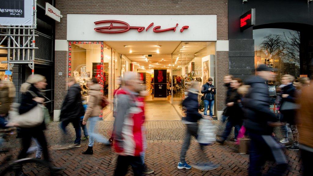 b724813701c Het faillissement voor de afzonderlijke ketens Dolcis, Invito, Manfield en  PRO Sport en de Hoogenbosch Retail Group is aangevraagd Beeld © ANP