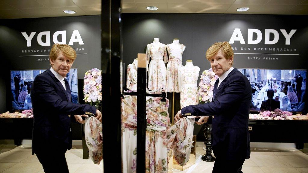 437bd3adb4b Couturier Addy van den Krommenacker bij de opening van zijn pop-up store in  de Bijenkorf in Amsterdam. Beeld © ANP