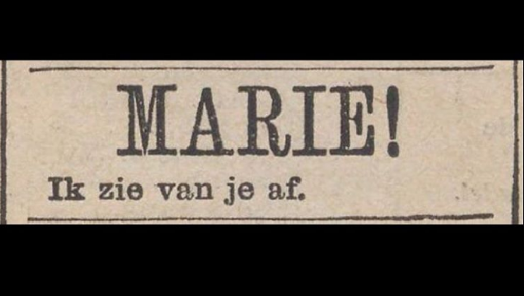 Dating advertenties in kranten