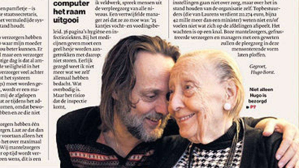 a0976c7b15a66e Hugo Borst met zijn moeder Beeld © Screenshot open brief in AD.