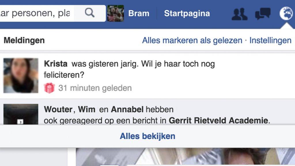 Iets Nieuws Facebooks felicitatie-fundamentalisme werkt nu ook achteraf #EH08