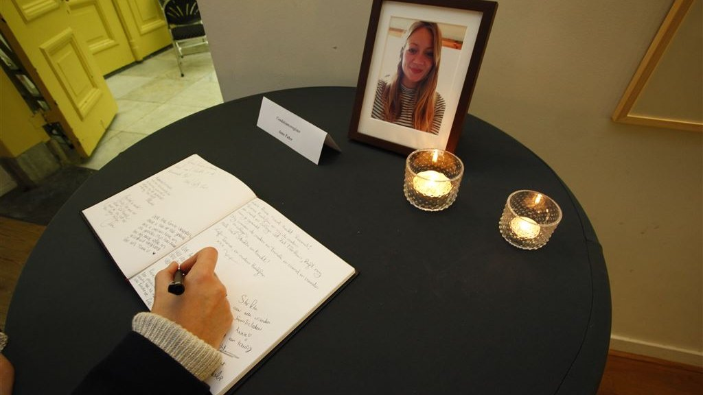 Condoleances voor Anne Faber