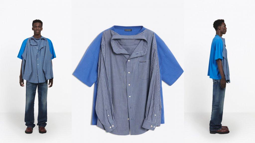 T Shirt Overhemd.Modehuis Balenciaga Komt Met T Shirt Shirt Van Ruim 1000 Euro