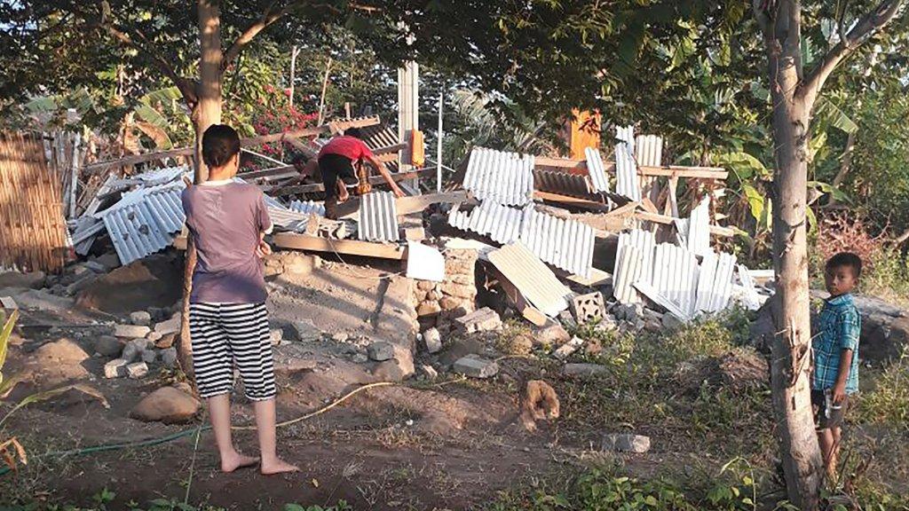 De Aardbeving Vorige Week Plaatsvond Op Lombok Veroorzaakte Veel Schade Beeld Anp