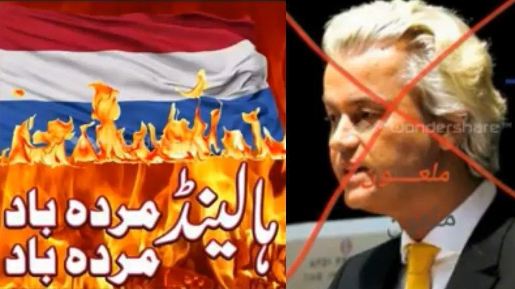 In Facebookfilmpjes op S. zijn profiel wordt hard uitgehaald naar Nederland en Geert Wilders.