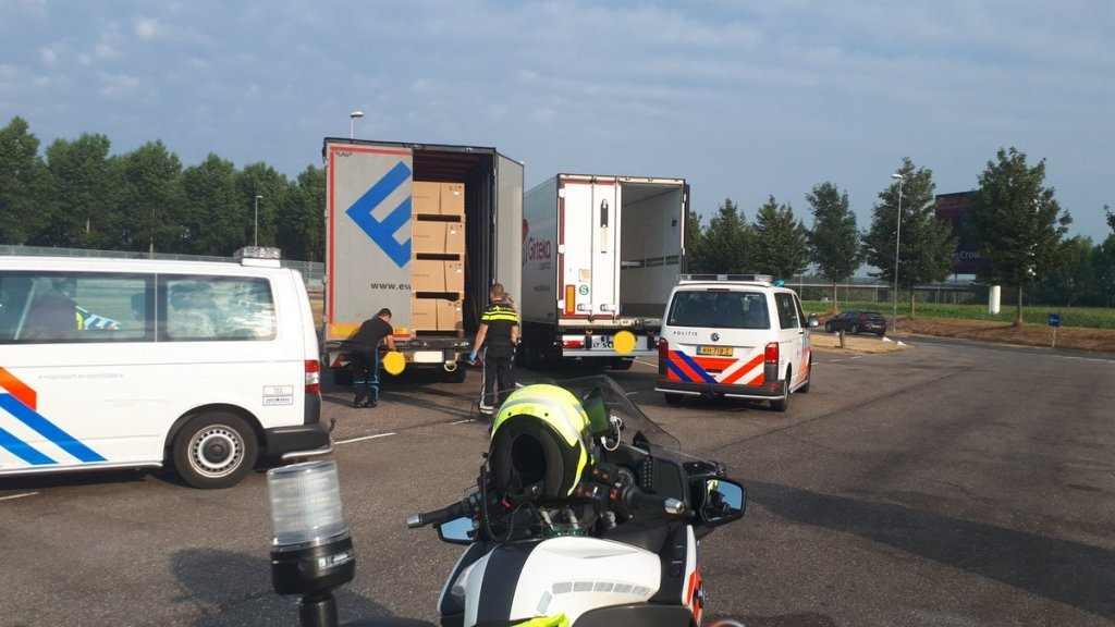 In juli werden ook verstekelingen in een vrachtwagen ontdekt
