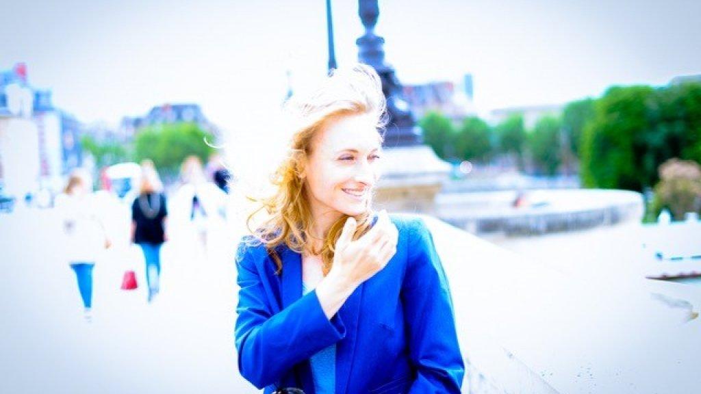 Bas maakte deze foto van Geerteke in Parijs.