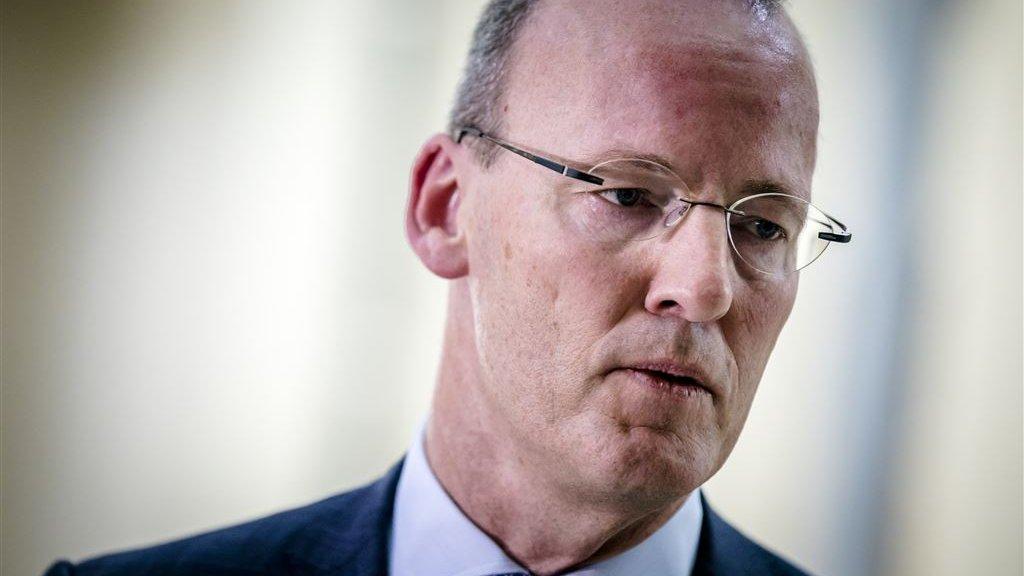 Klaas Knot, President van de Nederlandsche Bank (DNB), in gesprek met de pers.