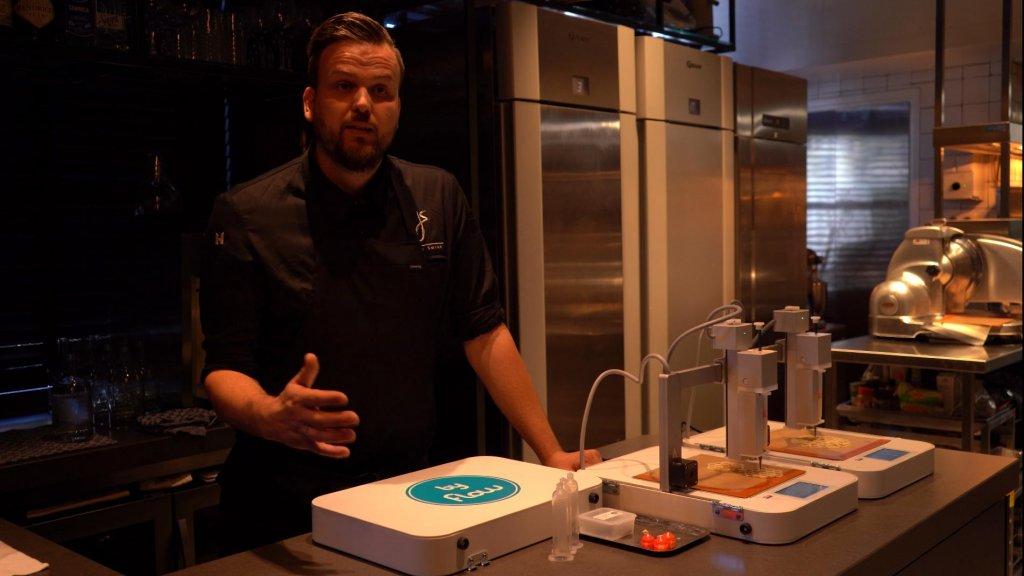 Experimenteren voorbij: topchef serveert eten uit 3d-printer
