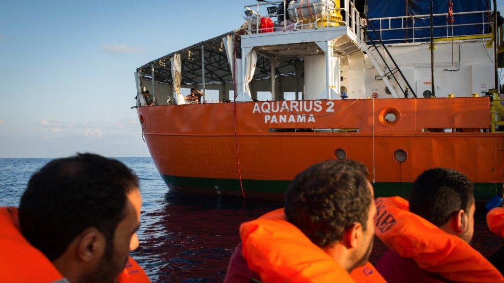 Reddingsschip Aquarius staakt zijn activiteiten