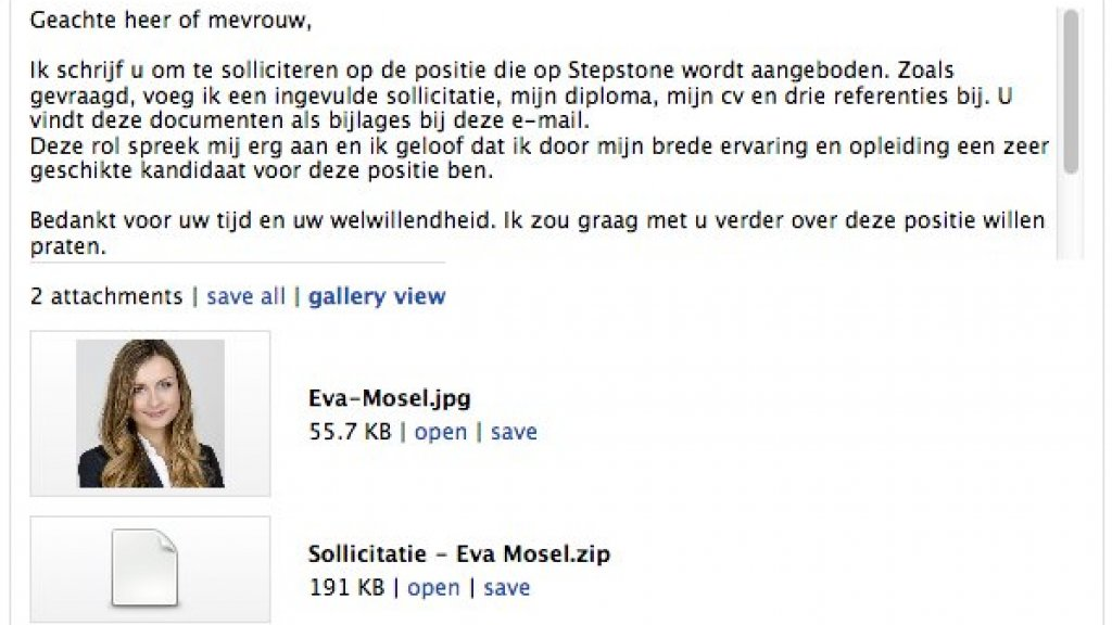 sollicitatie mail Criminelen verstoppen ransomware in Nederlandse