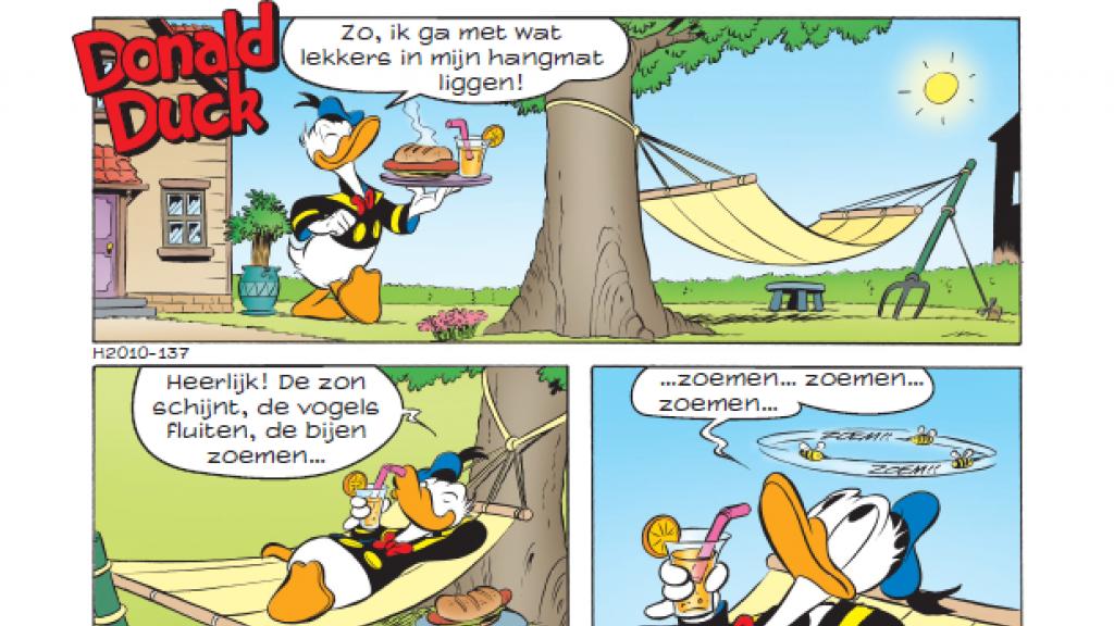 Een gedeelte van een pagina uit de Ducklexie