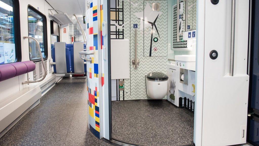 In de nieuwe sprinters komen ruimere toiletten.
