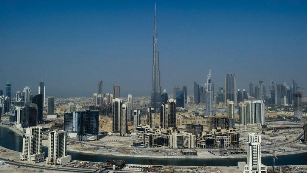 Skyline van Dubai.