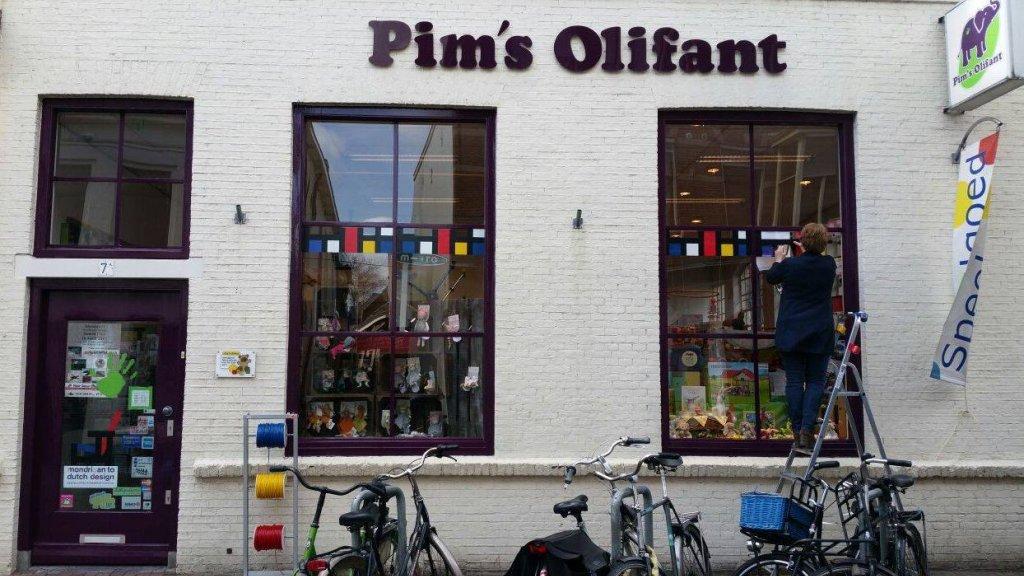 De gevel van Pim's Olifant.