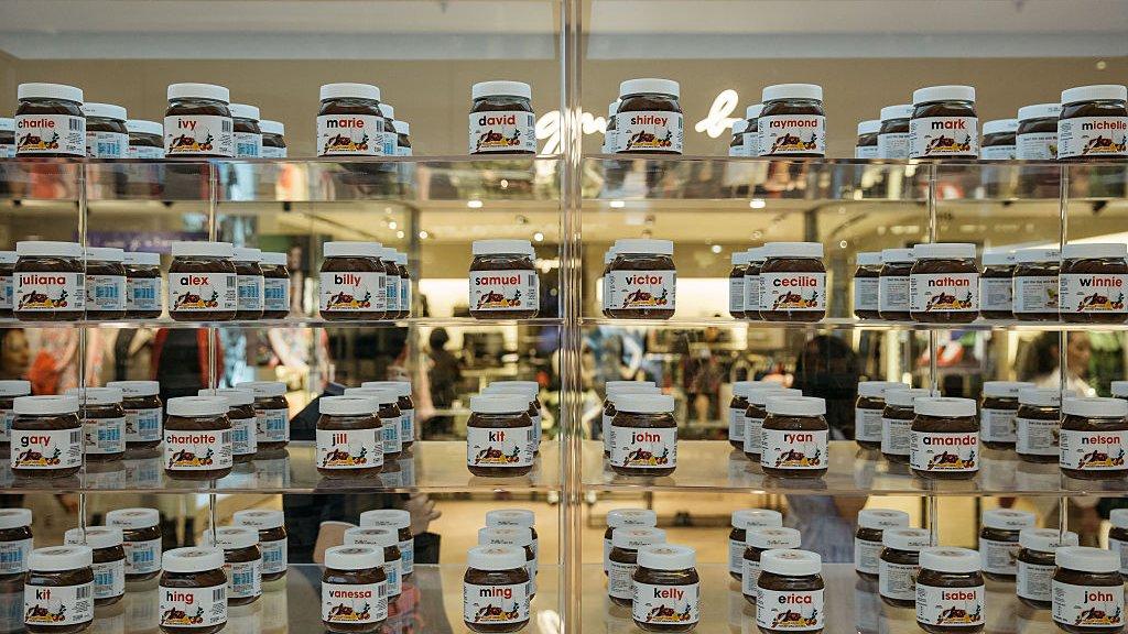 Nutella winkel in Hong Kong.