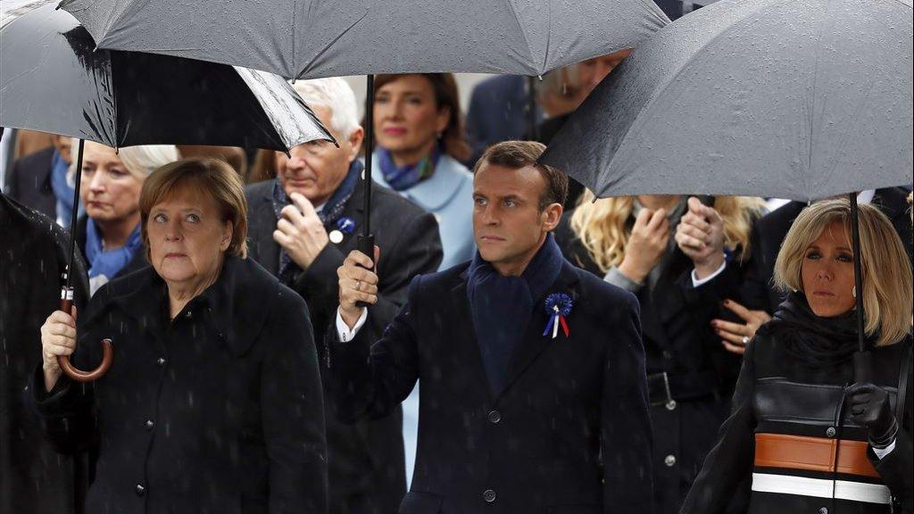 Angela Merkel en Emmanuel Macron.