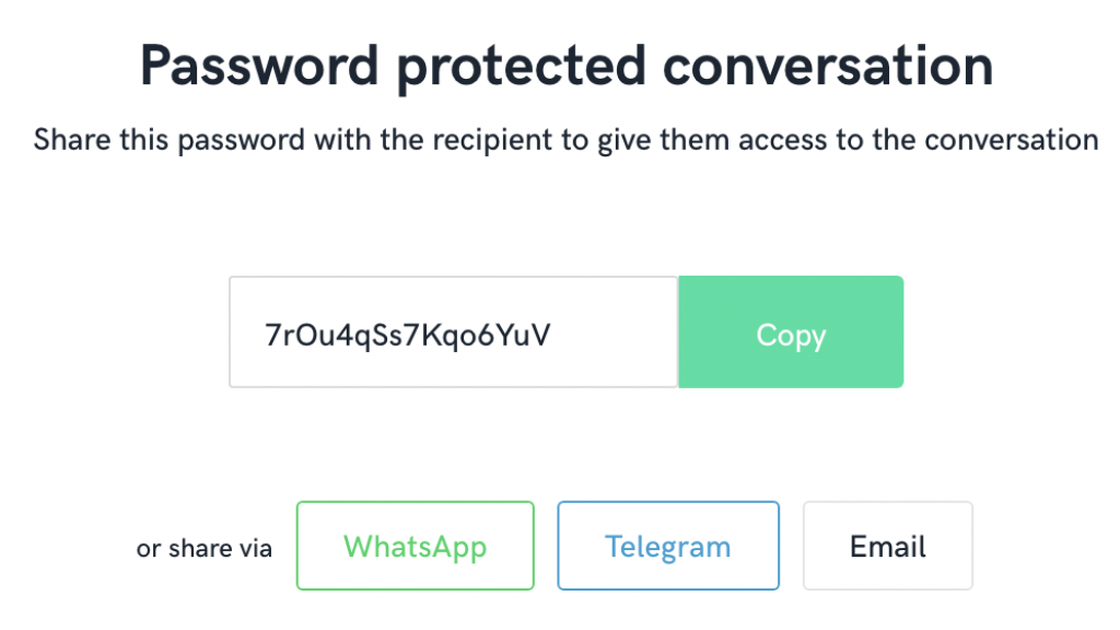 Met het wachtwoord kun je een Skotty-bericht openen.