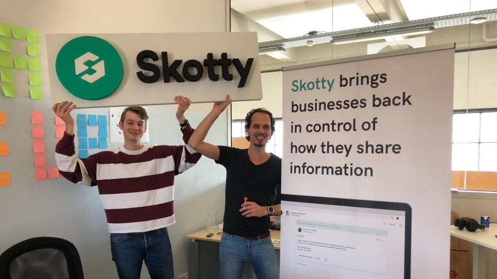 De oprichters van Skotty: Oscar van Vleuten (links) en Mees Boeijen.