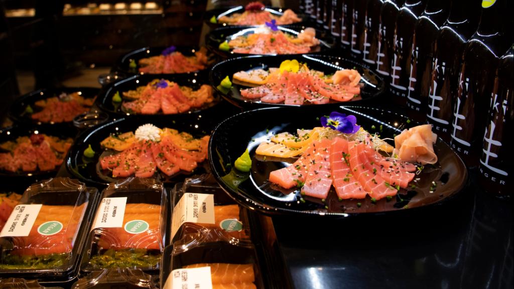 De sashimi in de Groningse supermarkt