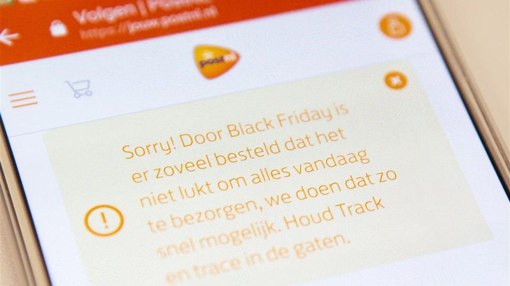 PostNL laat klanten alvast weten dat een bestelling vertraging kan oplopen.