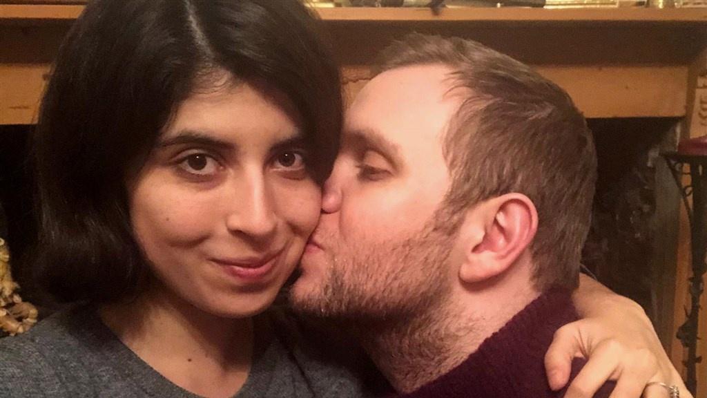 Daniela en Matthew na zijn vrijlating.