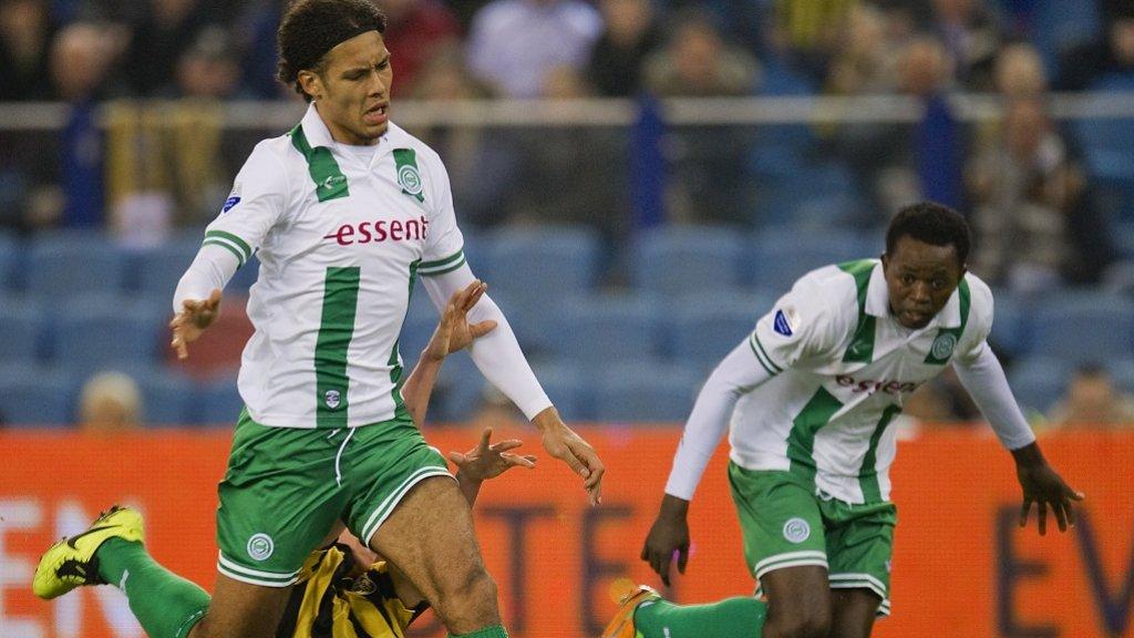 Van Dijk in zijn tijd bij FC Groningen.