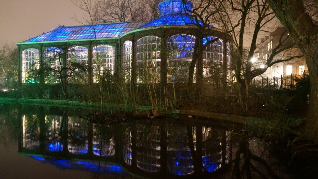 De Hortus Botanicus by night