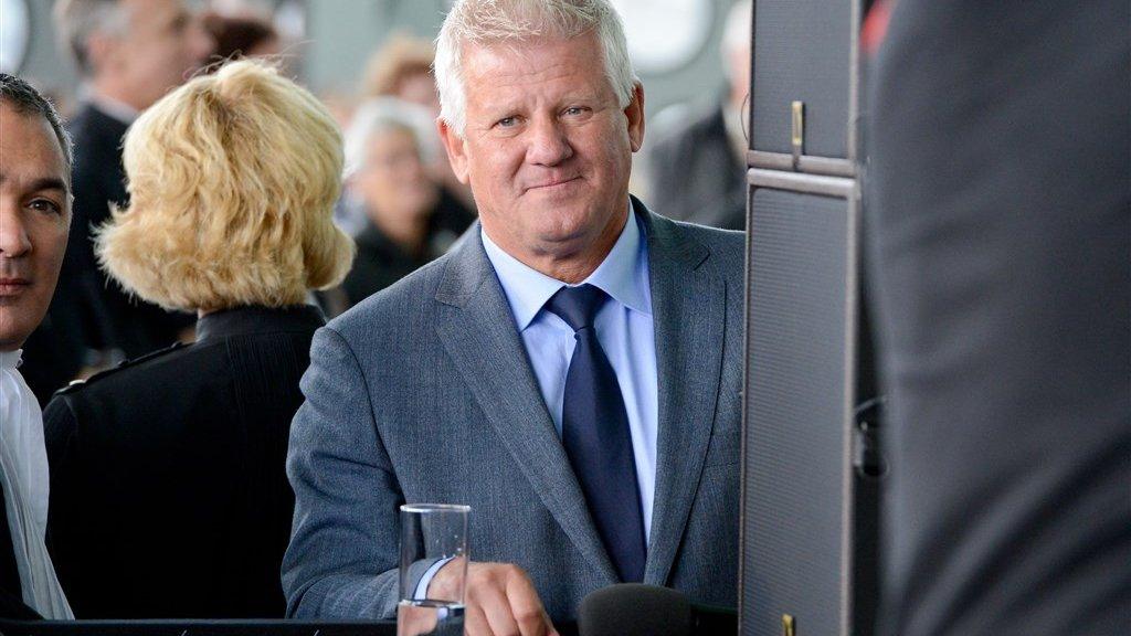 Jaap van Deurzen bij de opening van het nieuwe Paleis van Justitie in Amsterdam.