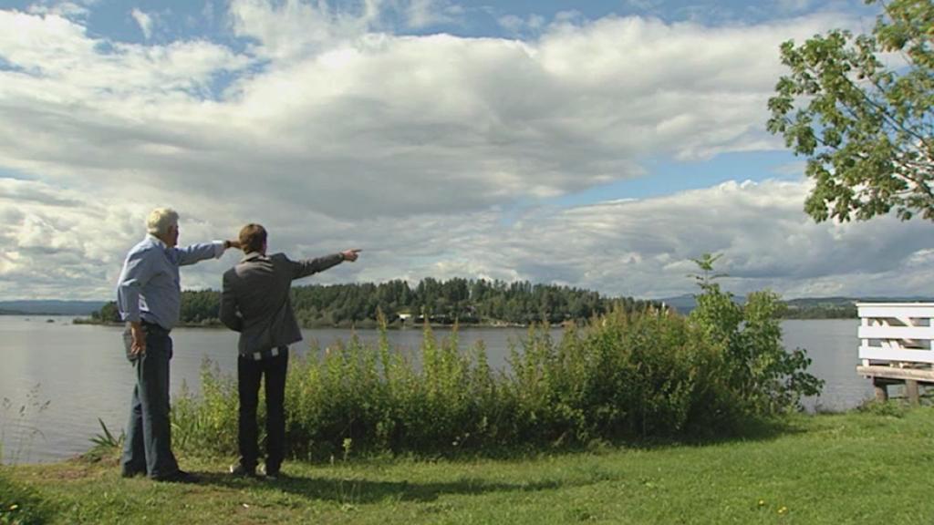 Jaap op Utoya, het eiland vlakbij Oslo.