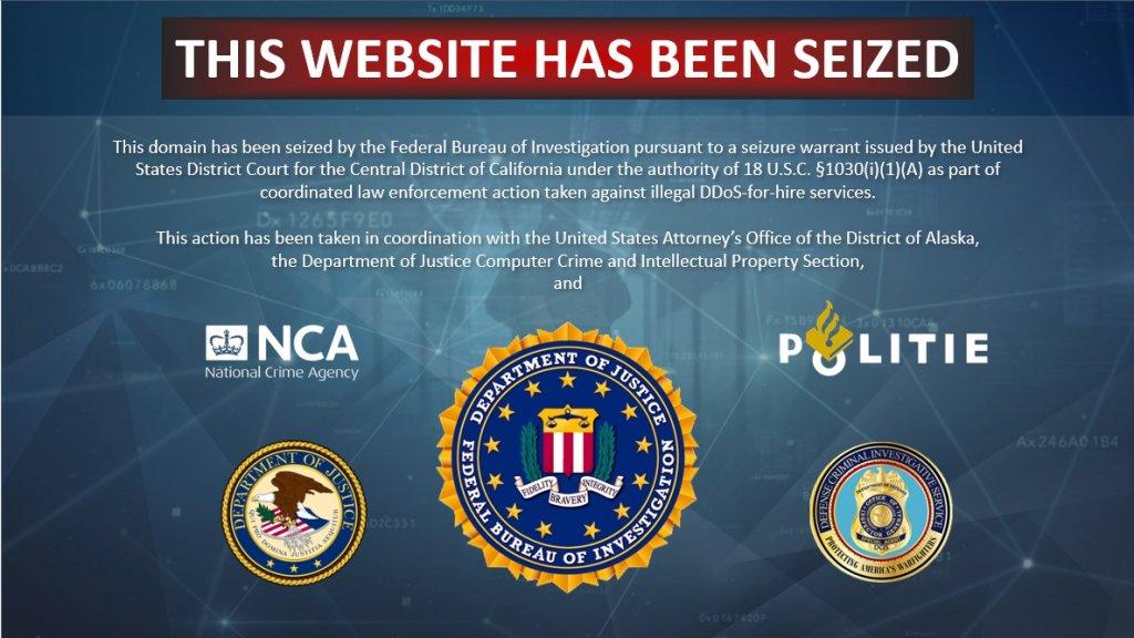 Deze melding is nu zichtbaar op de offline gehaalde websites.
