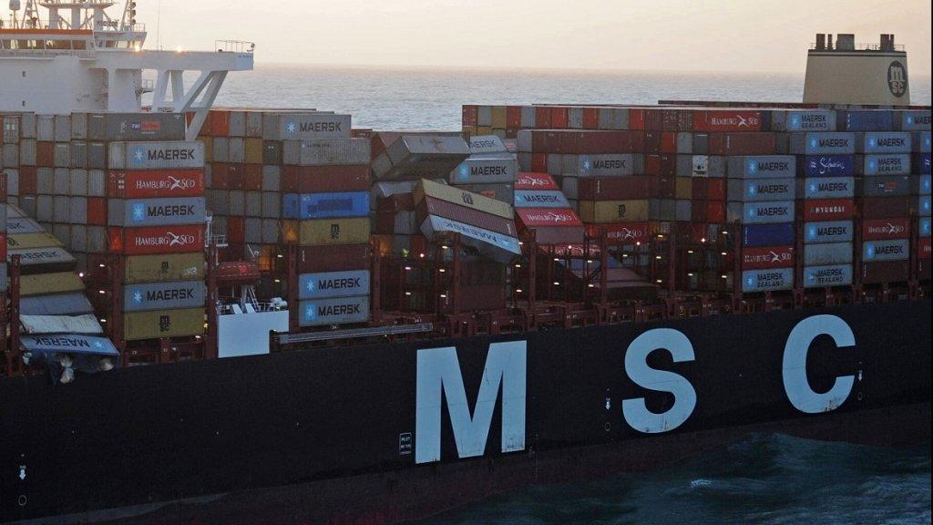 De chaos aan boord van de MSC Zoe nadat het schip honderden containers was verloren.