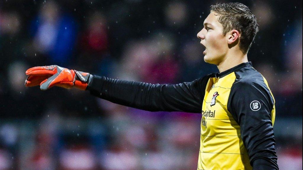 Kjell Scherpen debuteerde voor FC Emmen op 3 november 2017