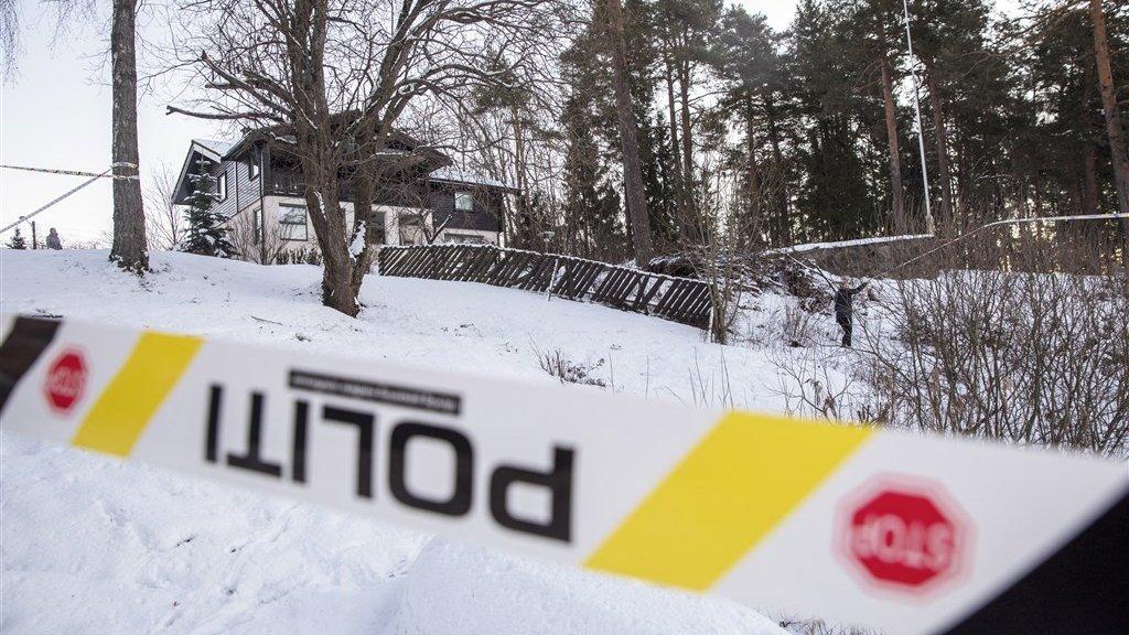 Het huis van het rijke koppel in Fjellhamar, 20 minuten van Oslo.