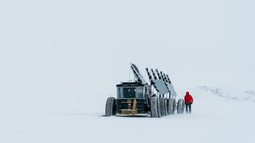 De Solar Voyager op Antarctica.