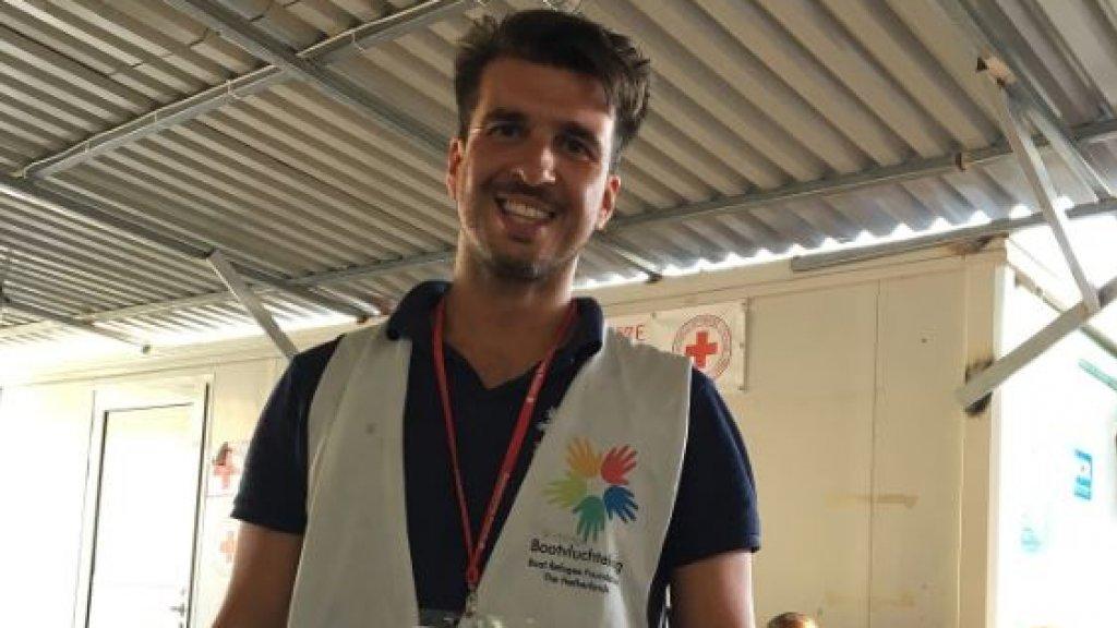 Arie in 2016, toen hij voor Stichting Bootvluchteling op Samos werkte: 'Ik heb hier nog steeds de mooiste herinneringen aan.'
