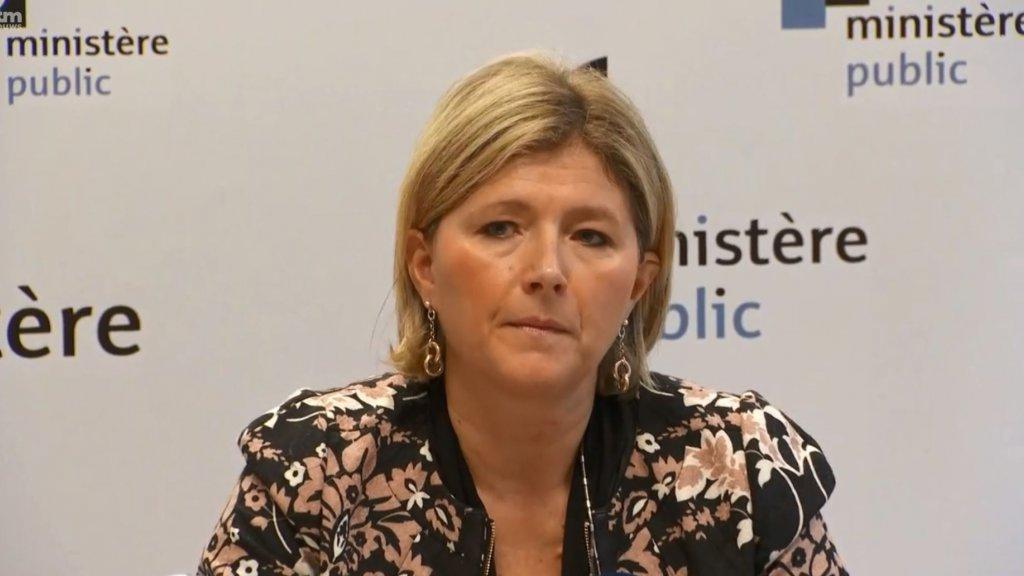 Cathérine Collignon van de Belgische justitie tijdens de persconferentie