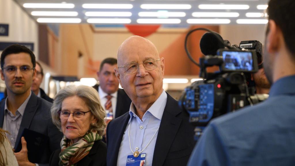 Klaus Schwab, oprichter van het WEF, deze week in Davos