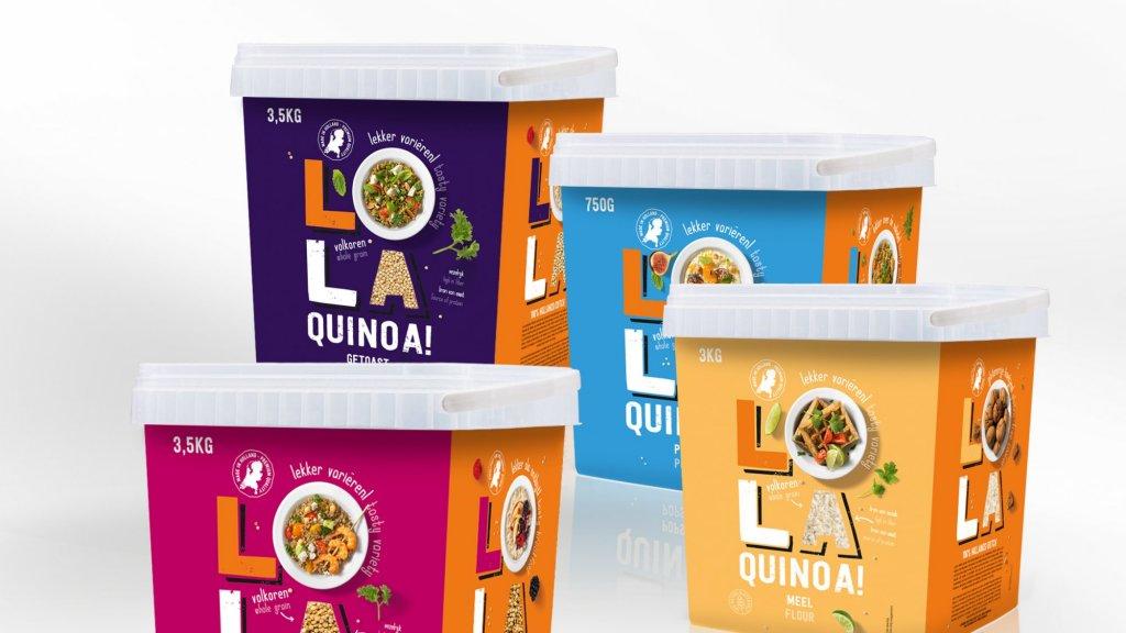 Lola Quinoa is ook in Nederlandse supermarkten te koop