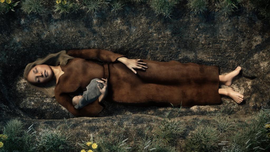 Reconstructie van het graf door Archeo3D.