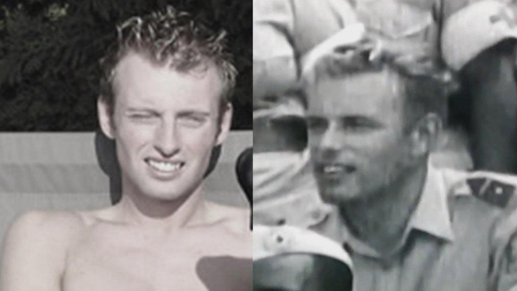 Joey (links) en een oude foto van Jan Karbaat (rechts).