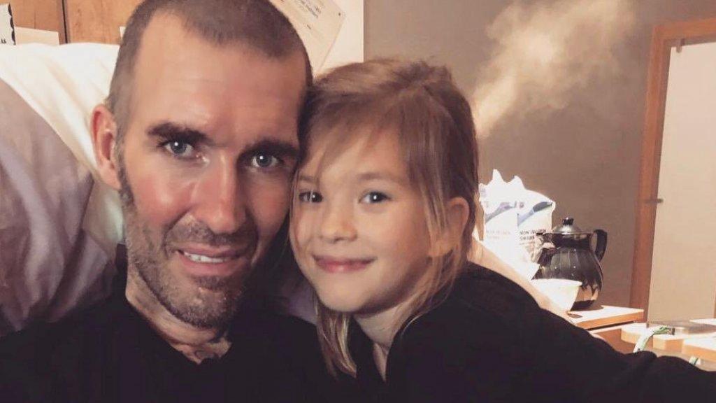 Ricksen met zijn dochter Isabella.