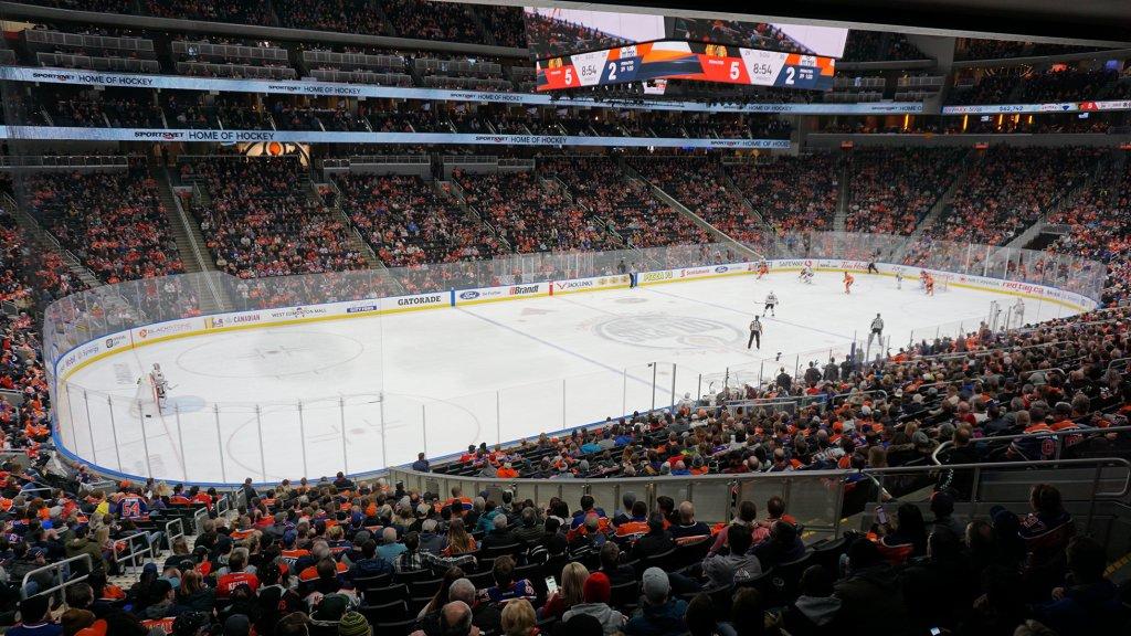 Wedstrijd van de Edmonton Oilers