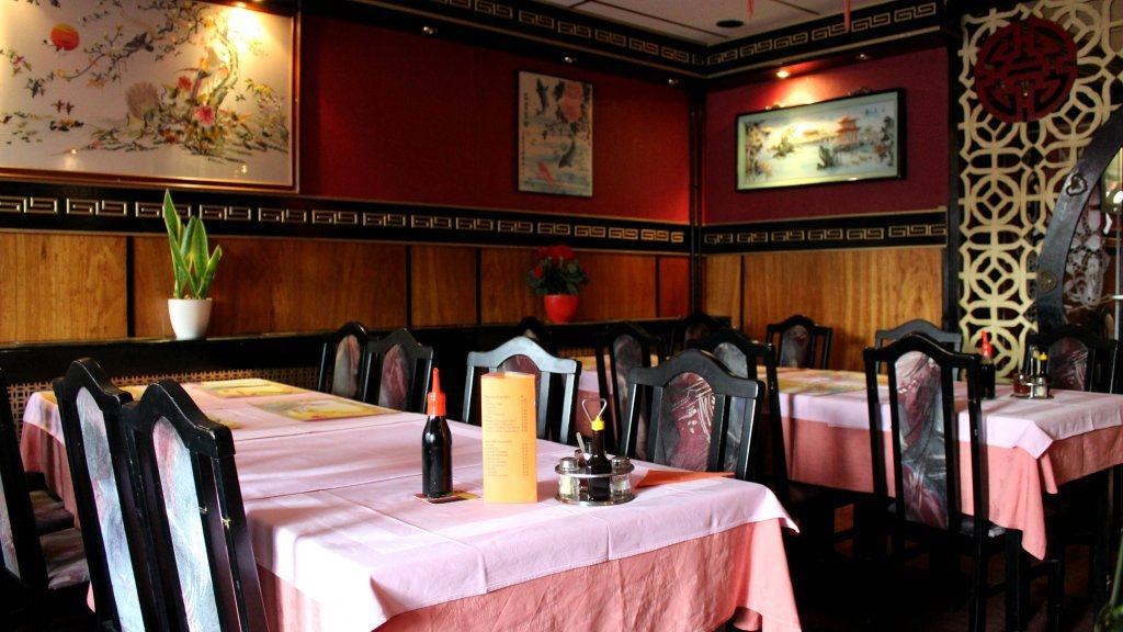 Een typisch Chinees restaurant.