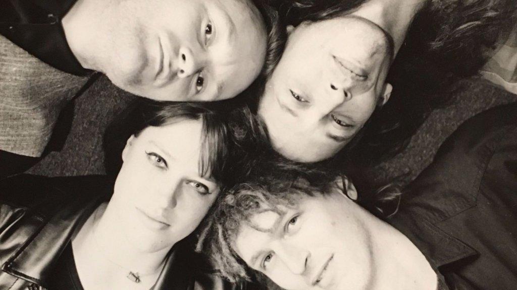 Swanny, Bert en de 'grote kinderen' Rowan en Berend.
