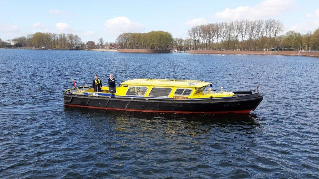 De boot van Waternet.