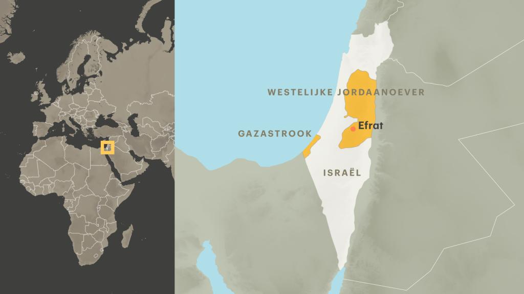 Efrat ligt in Palestijns gebied.