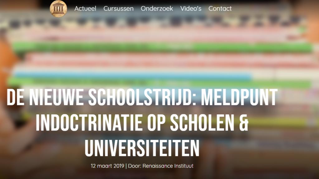 Screenshot website Renaissance Instituut.