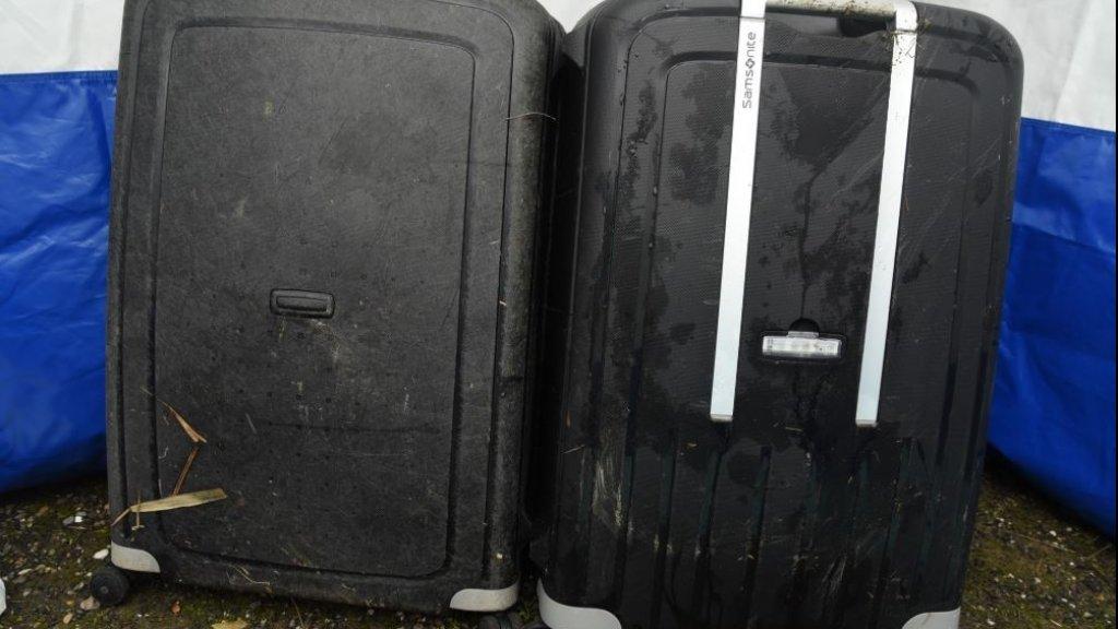 De koffer waarin de romp van de vrouw werd gevonden